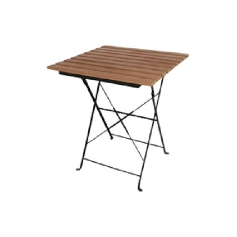 Rhine Folding Faux Wood Bistro Outdoor Garden Patio Table Square Top Matching Chairs