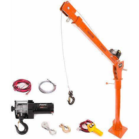 Rhino - Electric Crane Hoist, 12v / 3000lb Rhino Winch with over 1 Ton Lift
