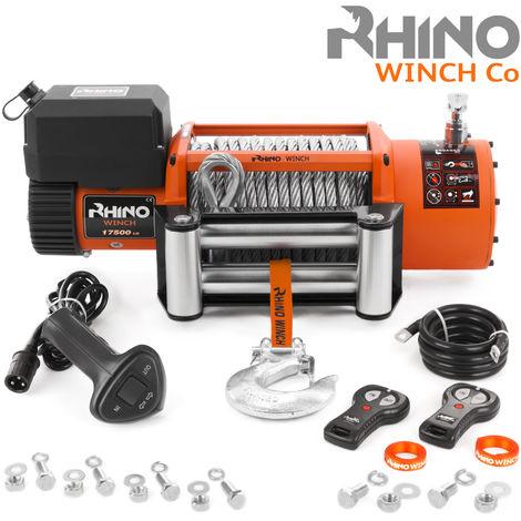 Rhino - Treuil électrique de récupération 17,500lb/7940 kg - 24V - télécommande sans Fil