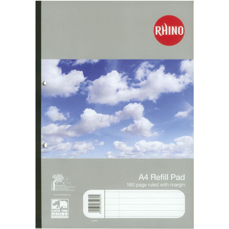 Rhino V4FM Pad A4 80 Leaf Sidebound Box of 10