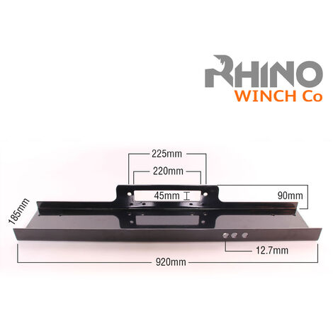 Rhino - Winch Mounting Plate Tray Heavy Duty up to 15000lb Recovery and 4x4