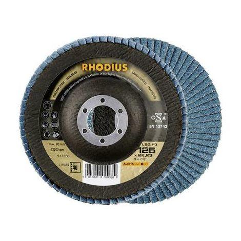 5 x professionnel matières disque abrasif ø 125mm k80 courbée Lamelles Disque pour acier