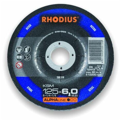 Rhodius Trennscheibe AlphaLine KSMK 125 x 3,0 x 22,23, für Stahl