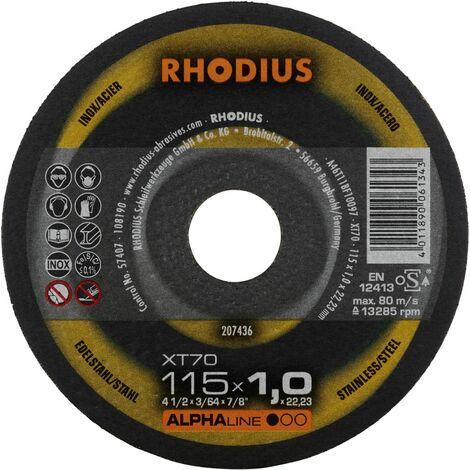 Rhodius Trennscheibe AlphaLine XT 70 115 x 1,0 x 22,23 für Stahl/Edelstahl