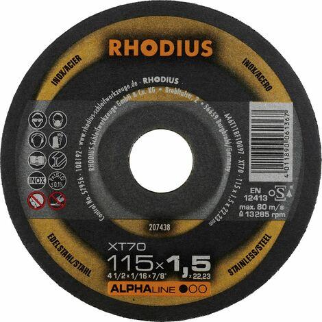 Rhodius Trennscheibe AlphaLine XT 70 115 x 1,5 x 22,23, für Stahl/Edelstahl
