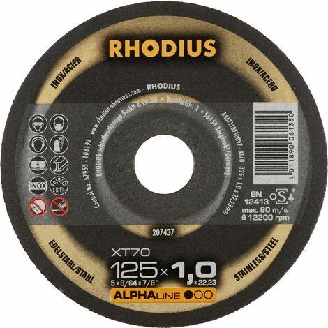 Rhodius Trennscheibe AlphaLine XT 70 125 x 1,0 x 22,23, für Stahl/Edelstahl