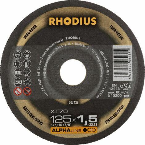 Rhodius Trennscheibe AlphaLine XT 70 125 x 1,5 x 22,23, für Stahl/Edelstahl