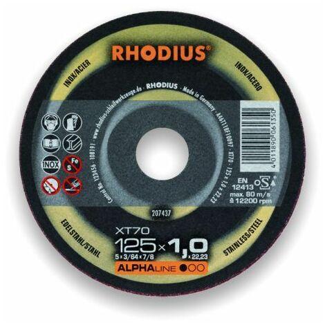 Rhodius Trennscheibe AlphaLine XT 70 230 x 1,9 x 22,23, für Stahl und Edelstahl