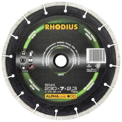 Rhodius Trennscheibe Diamant SD 44, Alpha 230 x 7 x 2,3 x 22,23, 2 Stück, für Stein