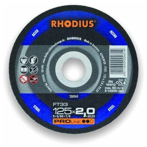 Rhodius Trennscheibe ProLine FT 33 180 x 3,0 x 22,23, für Stahl