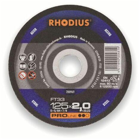 Rhodius Trennscheibe ProLine FTK 33 125 x 3,0 x 22,23, für Stahl