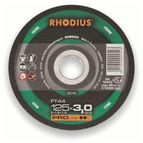Rhodius Trennscheibe ProLine FTK 44 115 x 3,0 x 22,23, für Stein/Aluminium