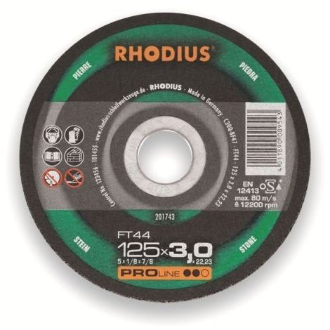 Rhodius Trennscheibe ProLine FTK 44 125 x 3,0 x 22,23, für Stein/Aluminium