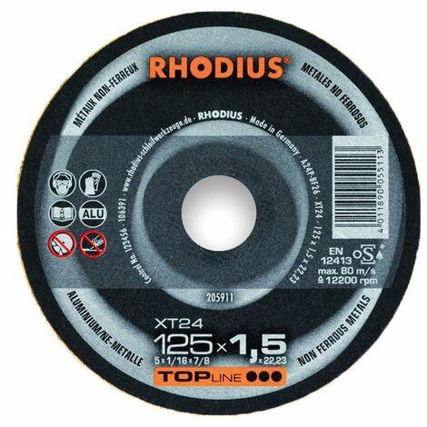Rhodius Trennscheibe TopLine XT 24 115 x 1,5 x 22,23 für Aluminium