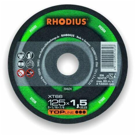 Rhodius Trennscheibe TopLine XT 66 125 x 1,5 x 22,23, für Stein/Aluminium