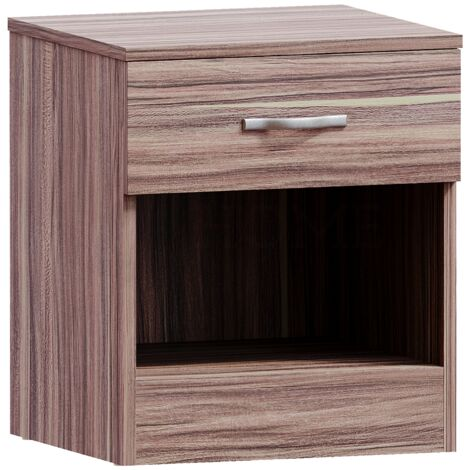 Riano 1 Drawer Bedside Chest, Walnut