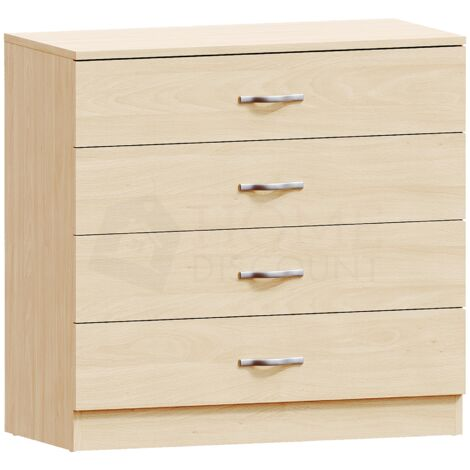 Riano 4 Drawer Chest, Pine