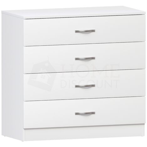 Riano 4 Drawer Chest, White