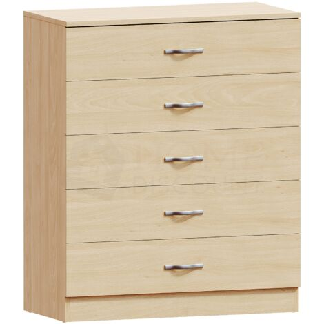 Riano 5 Drawer Chest, Pine