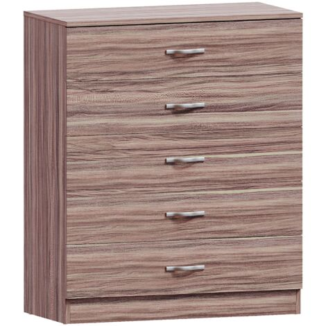 Riano 5 Drawer Chest, Walnut
