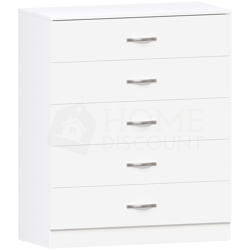 Riano 5 Drawer Chest White