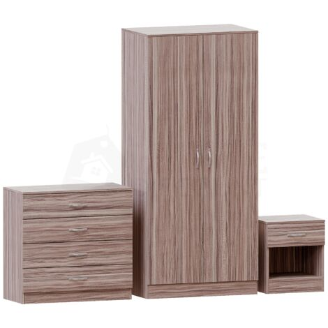 Riano Trio Bedroom Set, Walnut