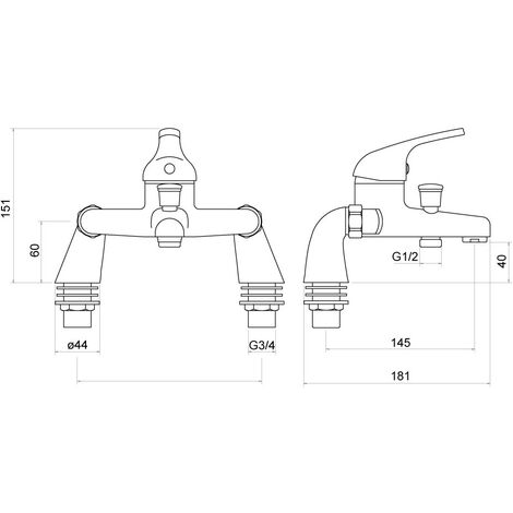 Ribble Bath Filler - By Voda Design