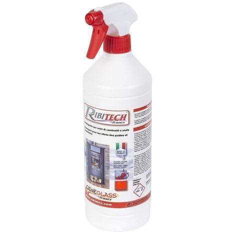 Ribimex Ceneglass nettoyant pour vitres 0,50 l pour poêles et cheminées
