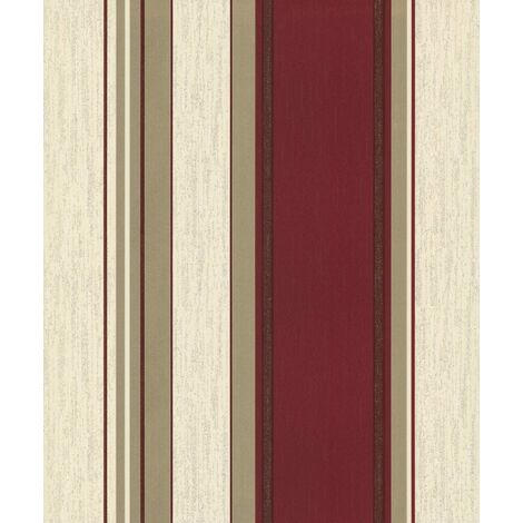Rich Red/Gold Glitter - M0803 - Synergy - Stripe - Vymura Wallpaper
