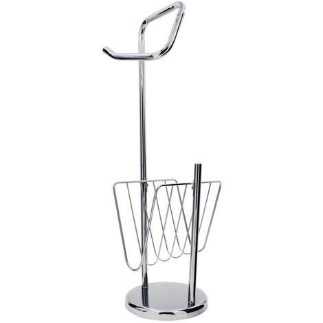 RIDDER 2-in-1 Toilet Holder Set Canberra Chrome - Silver