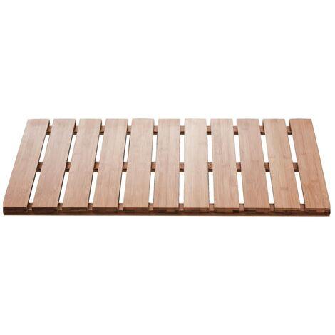 RIDDER Alfombra de baño Grating Nature de madera 72x38 cm - Marrón