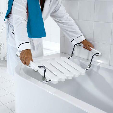 RIDDER Badewannen-Sitz mit poliertem Rahmen Weiß A0040011