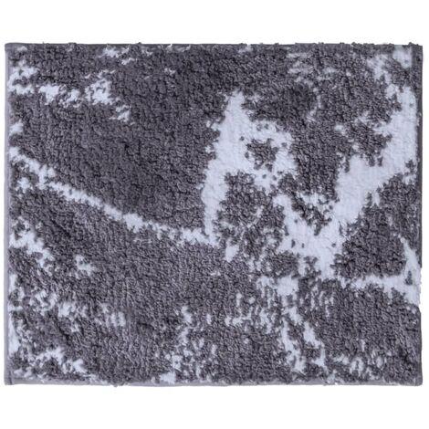 RIDDER Bathroom Rug Marmor Grey-white 55x50 cm - Grey