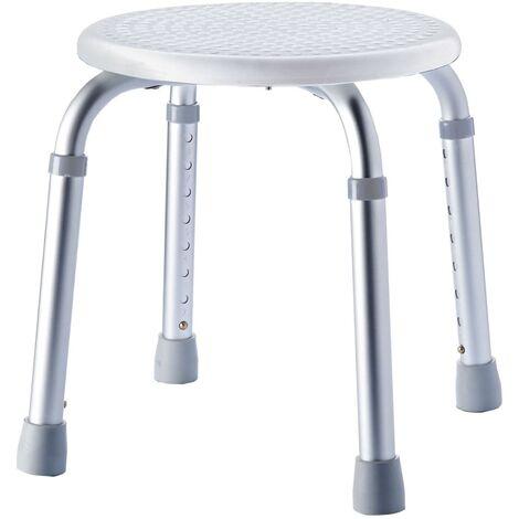 RIDDER Bathroom Stool Round White 150 kg A00603101