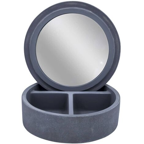 RIDDER Cosmetic Box with Mirror Cement Grey
