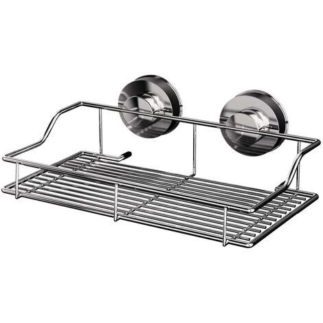 RIDDER Estante de ducha cromado 35x9,5x18,7 cm - Plateado