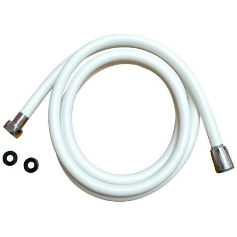 RIDDER Flexible de douche Barbados - 2m - Blanc