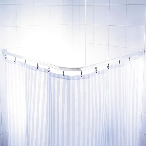 RIDDER Riel de cortina de ducha universal blanco 160x70 cm