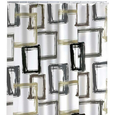 RIDDER Shower Curtain Pattern Brown 180x200 cm
