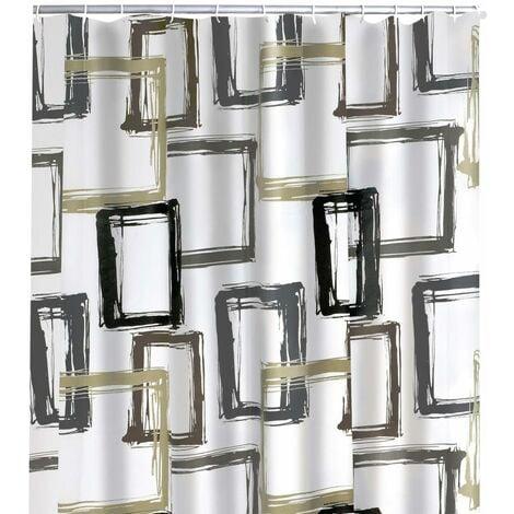 RIDDER Shower Curtain Pattern Brown 180x200 cm - Transparent