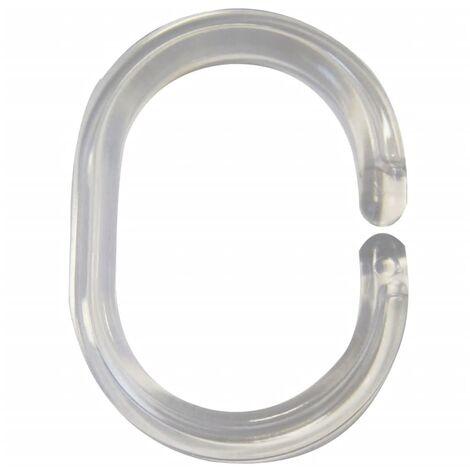 RIDDER Shower Curtain Rings Transparent 49300