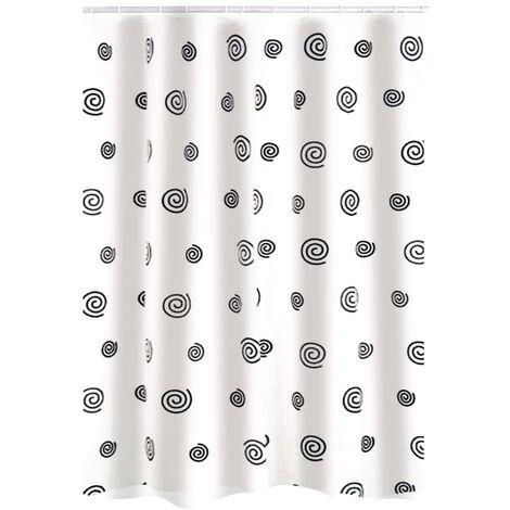 RIDDER Shower Curtain Snail Textile - Black