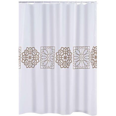 RIDDER Shower Curtain Tunis Textile - White