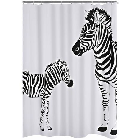 RIDDER Shower Curtain Zebra 180x200 cm