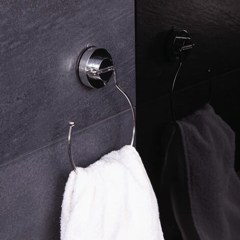 RIDDER Suction Towel Ring 3.3x15x20.3 cm Chrome - Silver