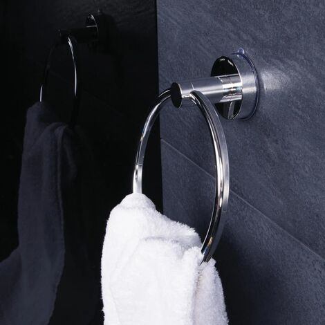 RIDDER Suction Towel Ring 7.2x18.5x21 cm Chrome - Silver