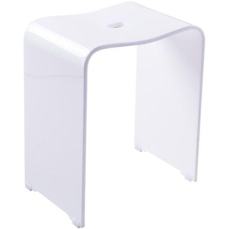 RIDDER Taburete de baño Trendy blanco - Blanco
