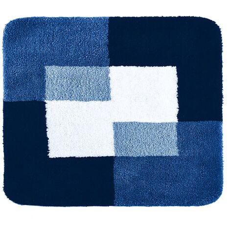 RIDDER Tapis de salle de bains Coins 55 x 50 cm Bleu 7103803