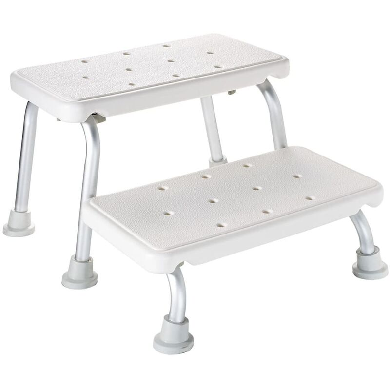 Image of RIDDER Two-Tier Step Stool White 150 kg A0102001 - White