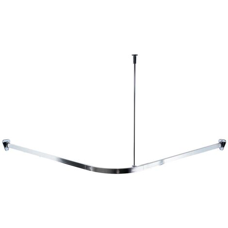 Ridder Universal Corner Shower Curtain Rail With Hooks Chrome 52500 P 356281 8754263 1